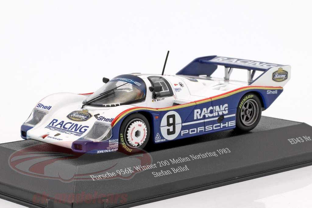 Porsche 956K #9 vincitore 200 miglia Norisring 1983 Stefan Bellof 1:43 CMR