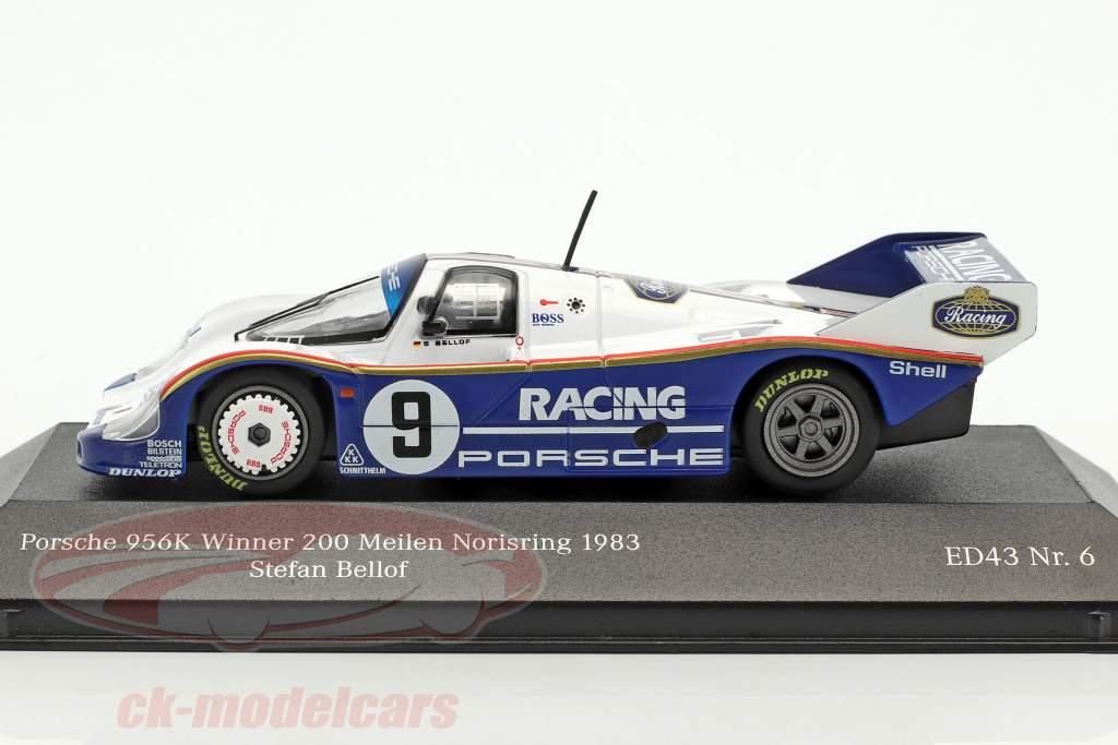 Porsche 956K #9 gagnant 200 miles Norisring 1983 Stefan Bellof 1:43 CMR