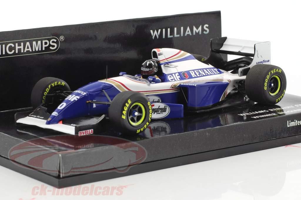Damon Hill Williams FW16B #0 vincitore Belgio GP formula 1 1994 1:43 Minichamps