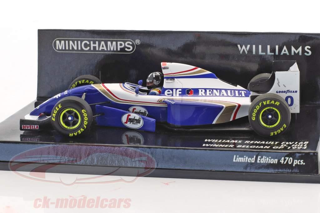 Damon Hill Williams FW16B #0 Winner Belgium GP formula 1 1994 1:43 Minichamps