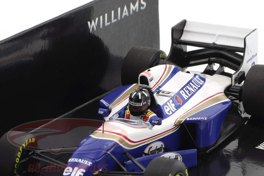 Damon Hill Williams FW16B #0 gagnant Belgique GP formule 1 1994 1:43 Minichamps