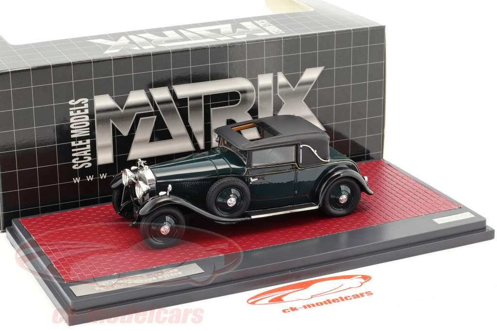 Hispano-Suiza H6B Park Ward Coupe anno di costruzione 1927 verde scuro 1:43 Matrix