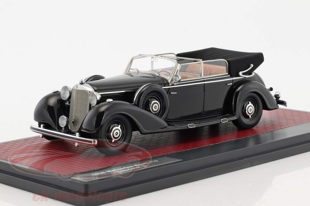 Mercedes-Benz 770 Cabriolet D open Baujahr 1938 schwarz 1:43 Matrix