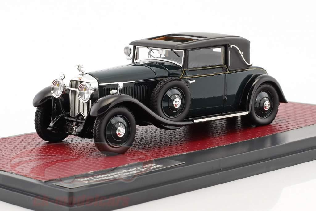 Hispano-Suiza H6B Park Ward Coupe année de construction 1927 vert foncé 1:43 Matrix
