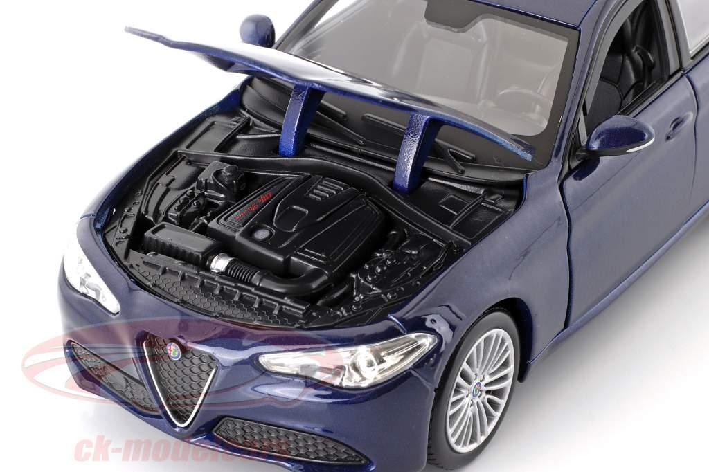 Alfa Romeo Giulia year 2016 blue metallic 1:24 Bburago