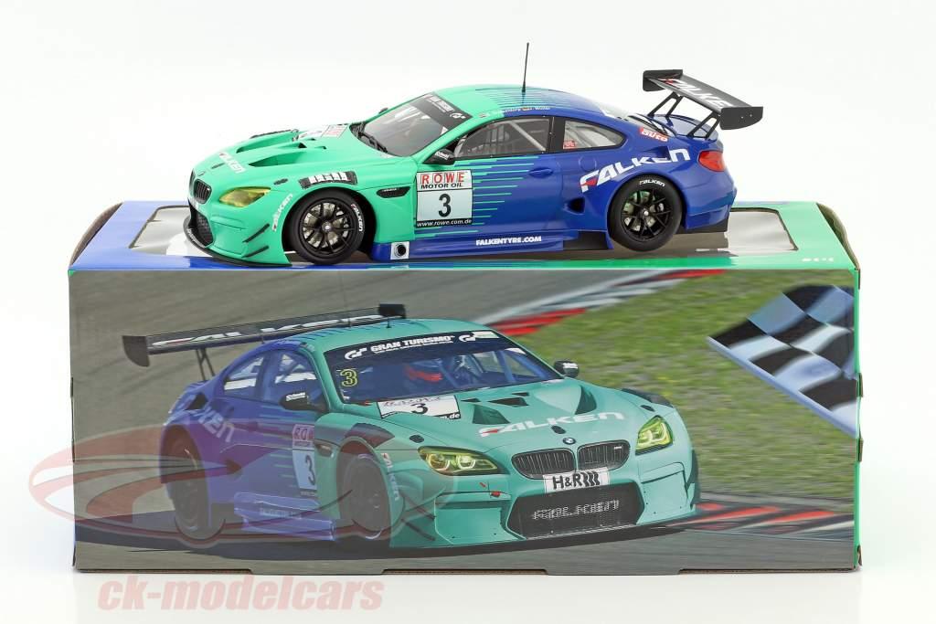 BMW M6 GT3 #3 Team Falken ganador 4. raza VLN Nürburgring 2017 1:18 Minichamps