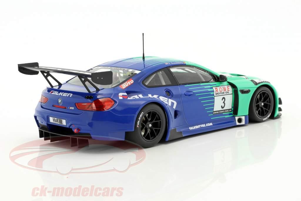 BMW M6 GT3 #3 Team Falken vencedor 4. raça VLN Nürburgring 2017 1:18 Minichamps
