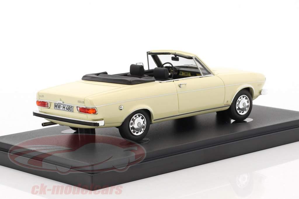 Audi 100 LS Cabriolet Baujahr 1969 weiß 1:43 AutoCult