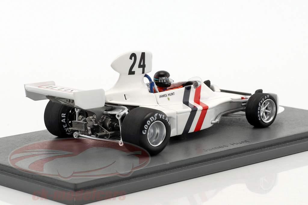 James Hunt Hesketh 308 #24 3rd Sweden GP formula 1 1974 1:43 Spark