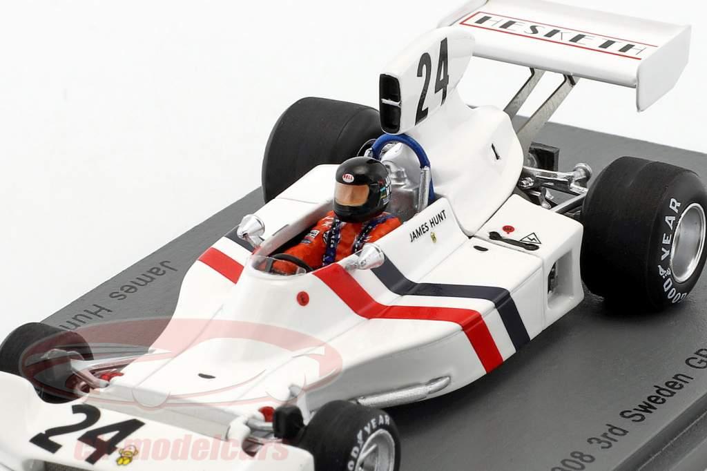James Hunt Hesketh 308 #24 3 ° Svezia GP formula 1 1974 1:43 Spark