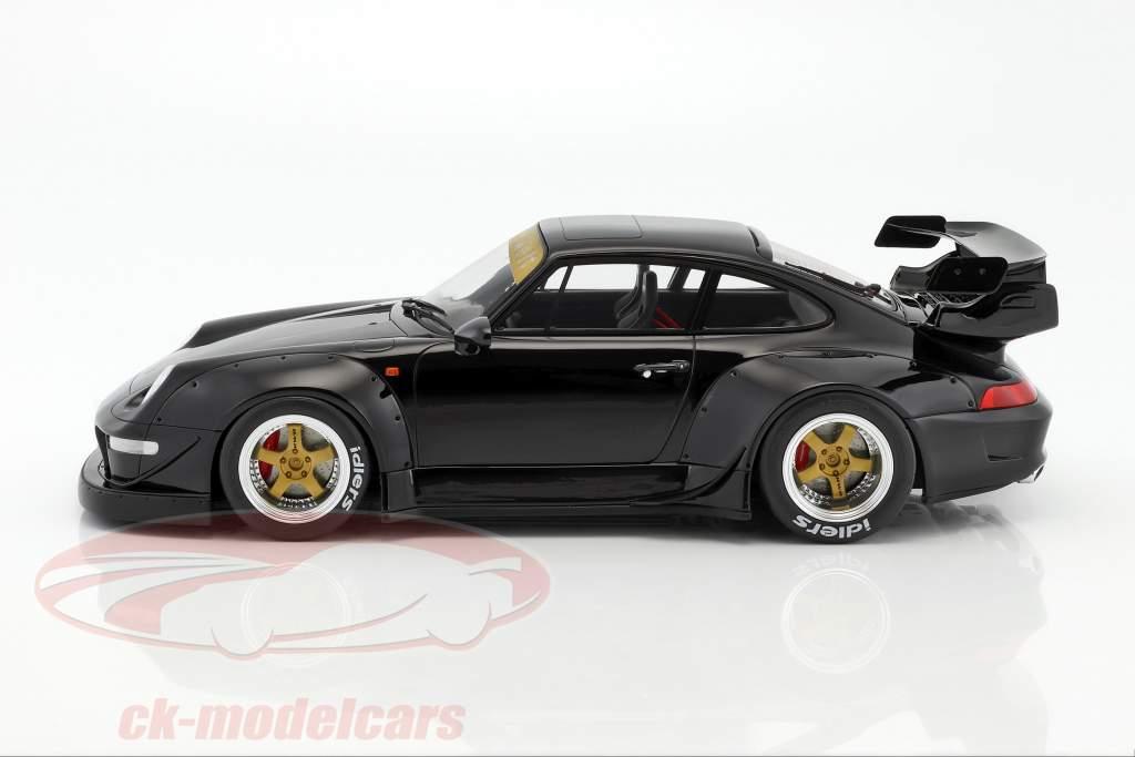 Porsche 911 (993) RWB noir 1:12 GT-SPIRIT