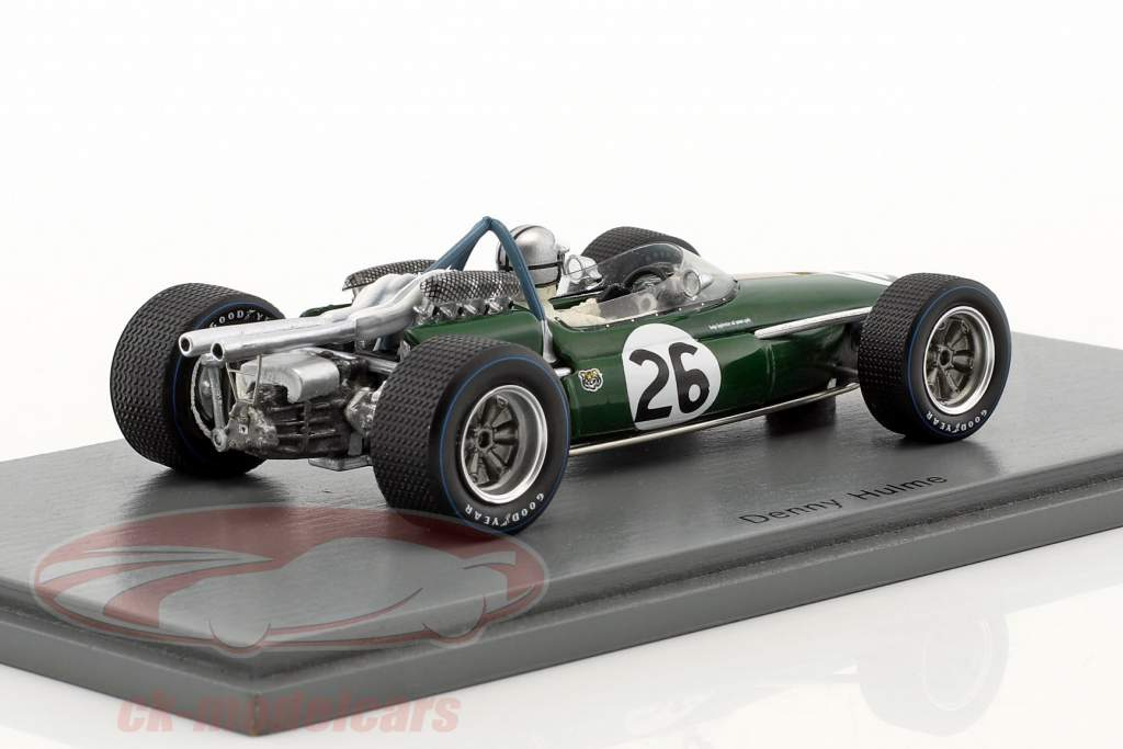 Denis Hulme Brabham BT19 #26 champion du monde Belgique GP formule 1 1967 1:43 Spark