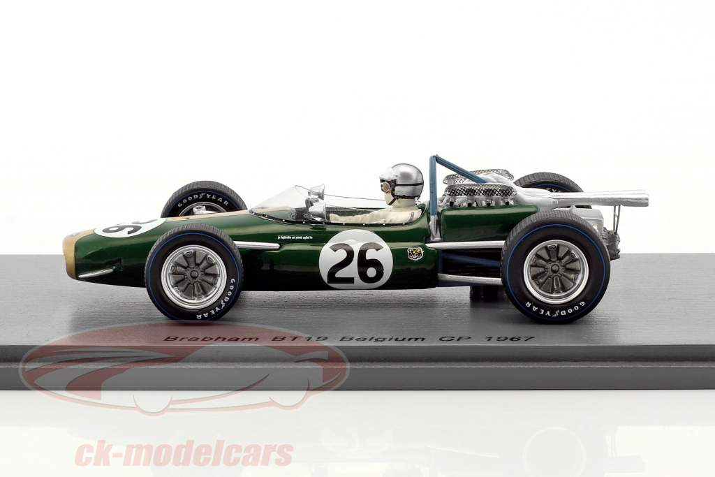 Denis Hulme Brabham BT19 #26 campione del mondo Belgio GP formula 1 1967 1:43 Spark