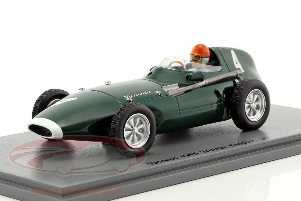 Tony Brooks Vanwall VW5 #4 Winner Belgium GP formula 1 1958 1:43 Spark