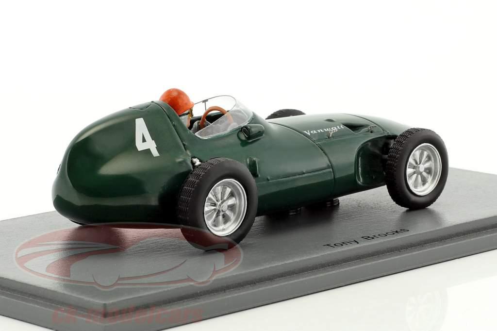 Tony Brooks Vanwall VW5 #4 gagnant Belgique GP formule 1 1958 1:43 Spark