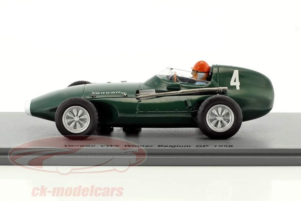 Tony Brooks Vanwall VW5 #4 ganador Bélgica GP fórmula 1 1958 1:43 Spark