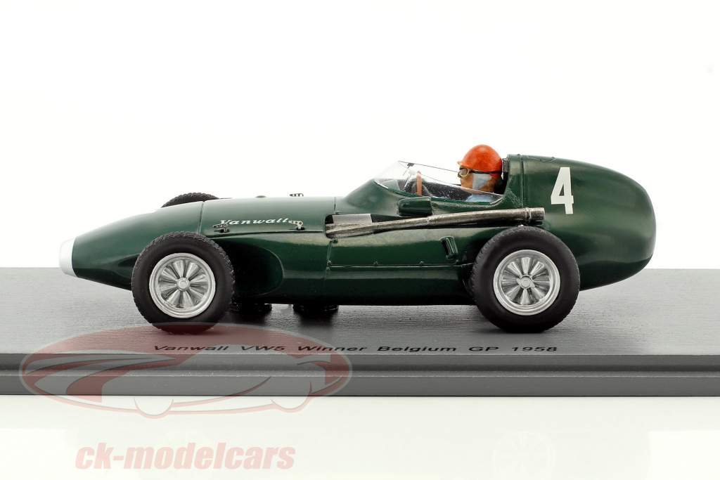 Tony Brooks Vanwall VW5 #4 vencedor Bélgica GP fórmula 1 1958 1:43 Spark
