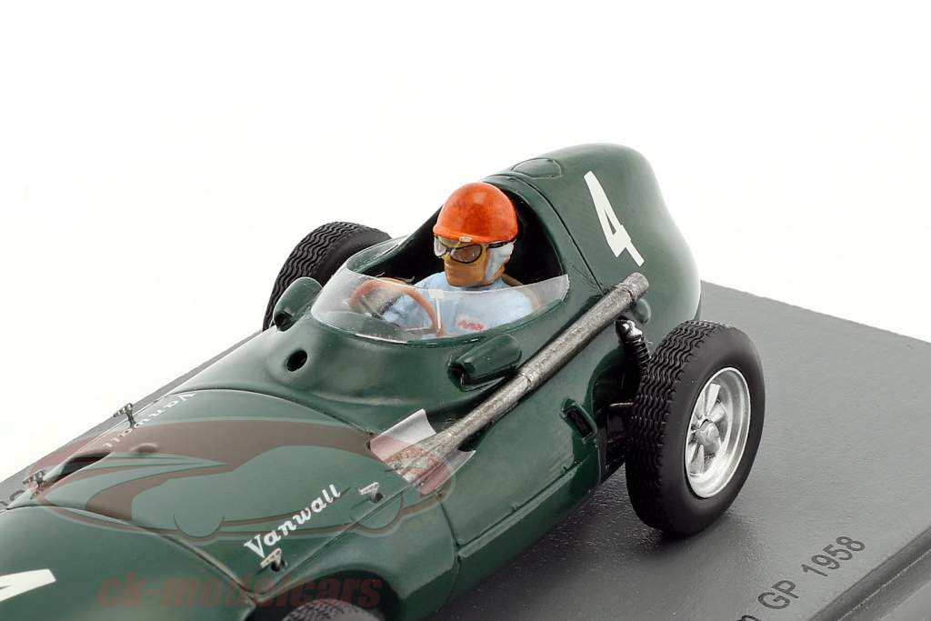 Tony Brooks Vanwall VW5 #4 Vinder Belgien GP formel 1 1958 1:43 Spark