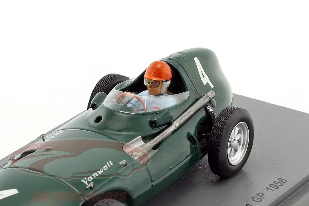 Tony Brooks Vanwall VW5 #4 winnaar België GP formule 1 1958 1:43 Spark