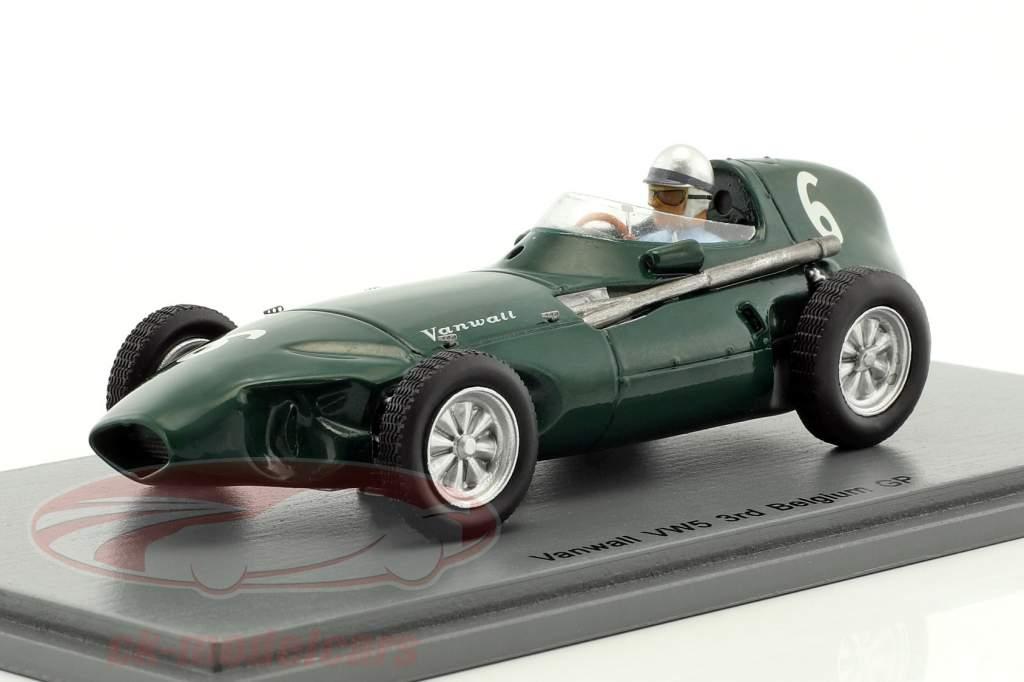 Stuart Lewis-Evans Vanwall VW5 #6 3 ° Belgio GP formula 1 1958 1:43 Spark