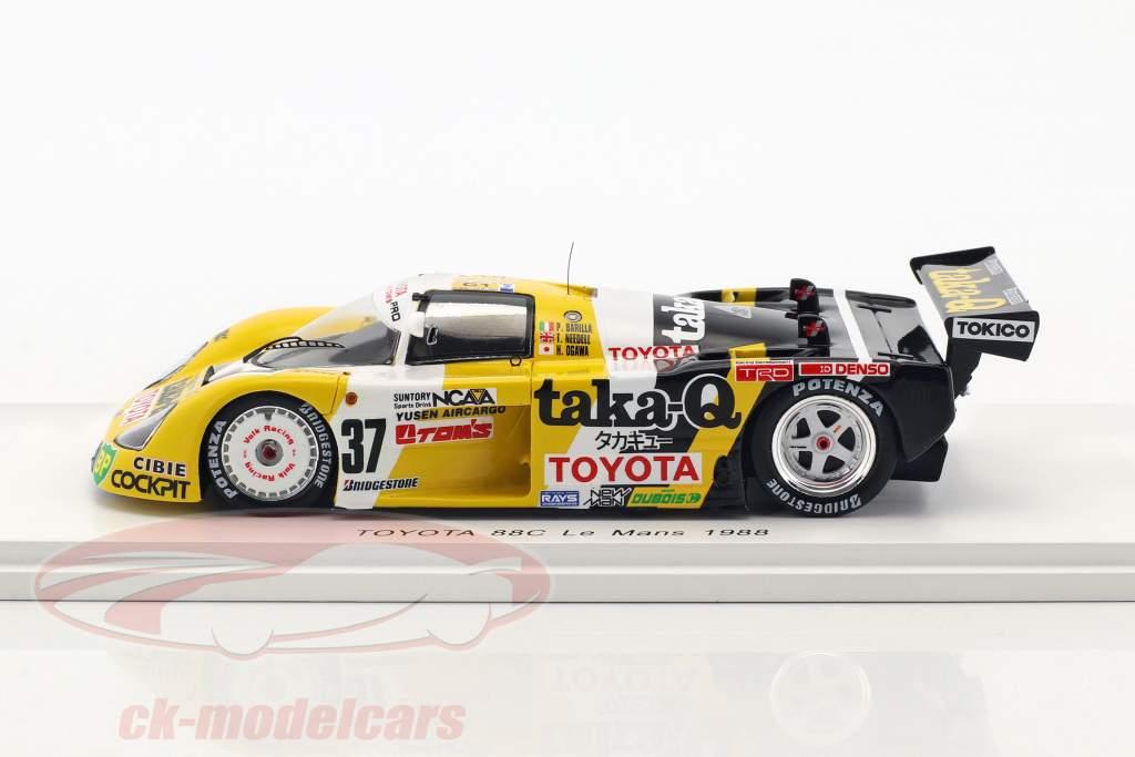 Toyota 88C #37 24h LeMans 1988 Barilla, Ogawa, Needell 1:43 Spark