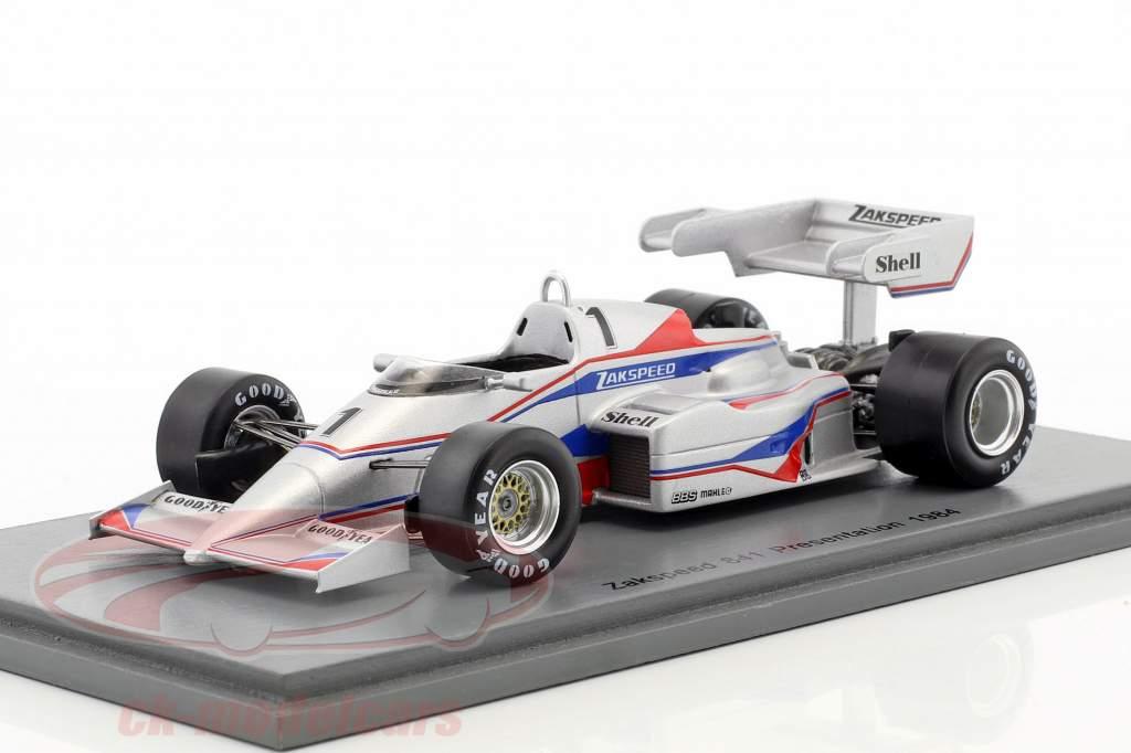 Zakspeed 841 #1 Presentation Car formule 1 1984 1:43 Spark