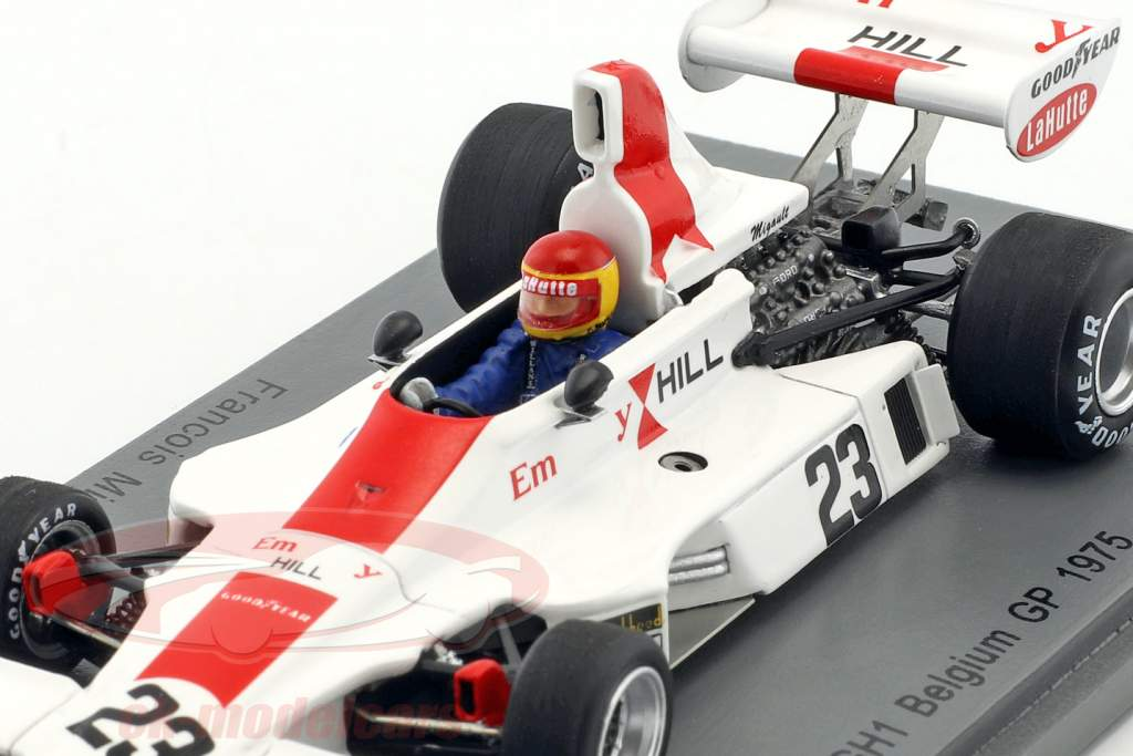 Francois Migault Hill GH1 #23 belga GP formula 1 1975 1:43 Spark