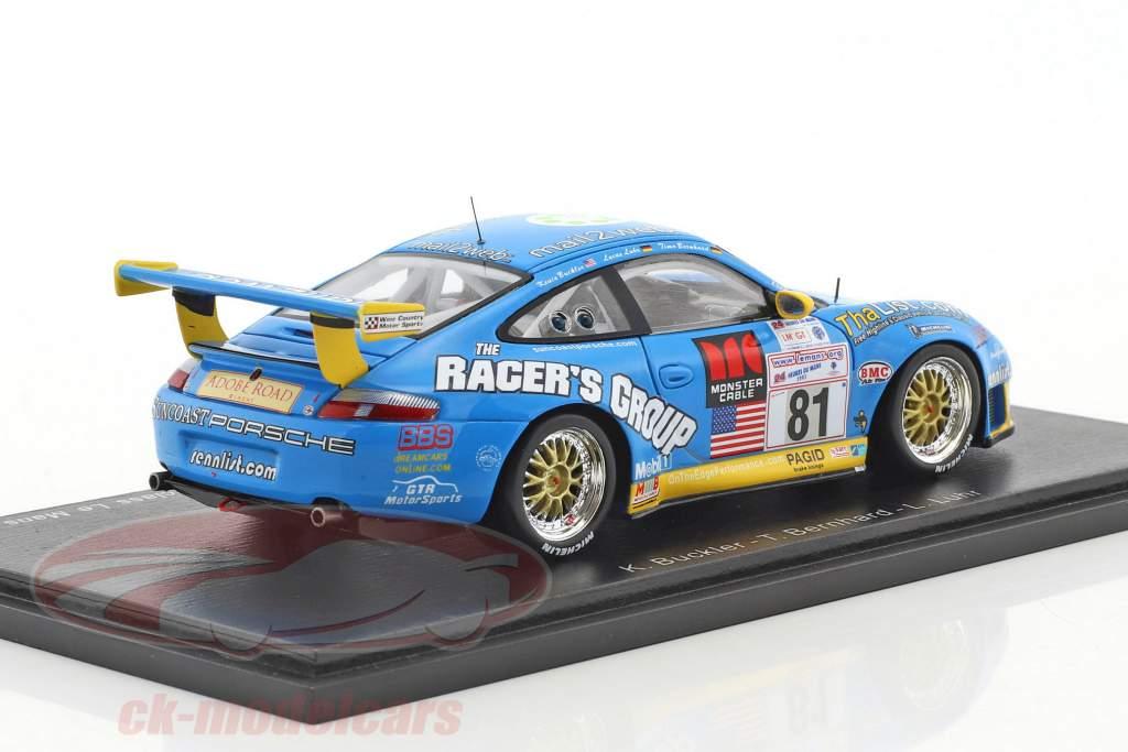 Porsche 996 GT3-RS #81 Winner GT class 24h LeMans 2002 Buckler, Bernhard, Luhr 1:43 Spark