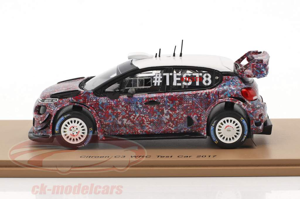 Citroen C3 WRC test Car 2017 1:43 Spark