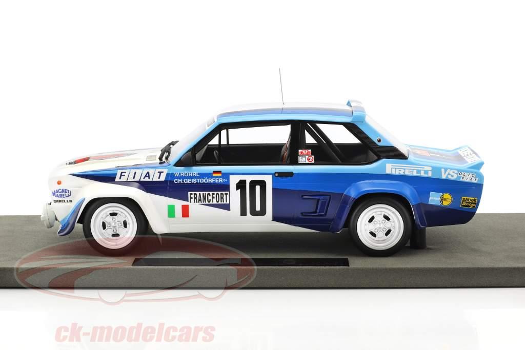 Fiat 131 Abarth #10 vincitore Rallye Monte Carlo 1980 Röhrl, Geistdörfer 1:18 TopMarques