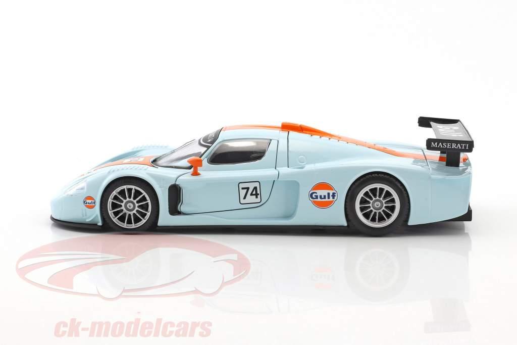 Maserati MC12 Corsa #74 gulf blau / orange 1:24 MotorMax