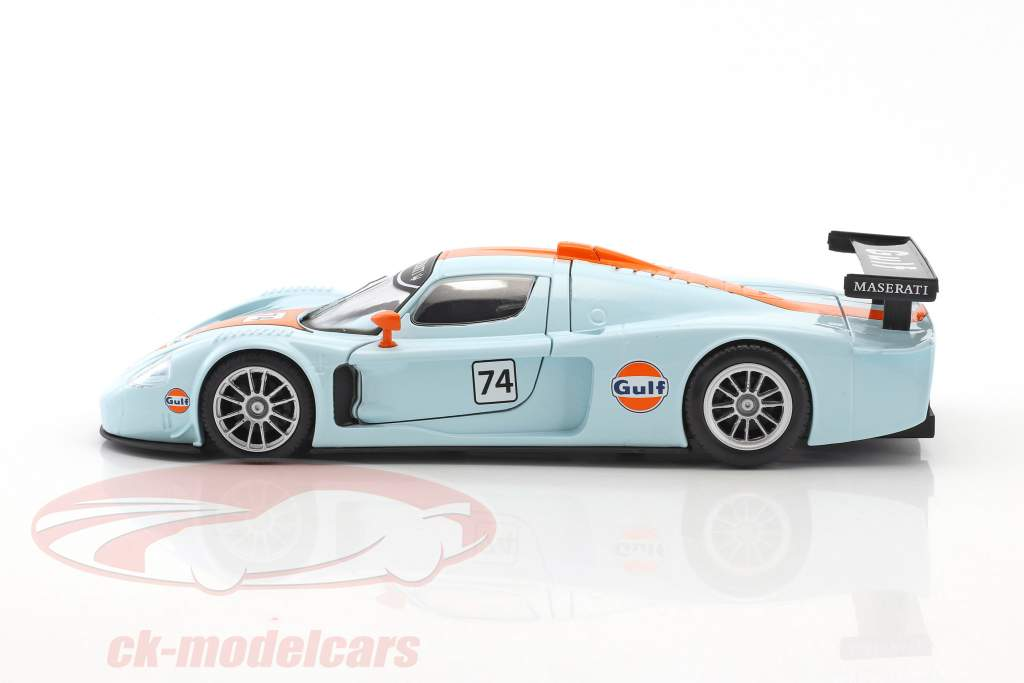 Maserati MC12 Corsa #74 gulf blu / arancione 1:24 MotorMax