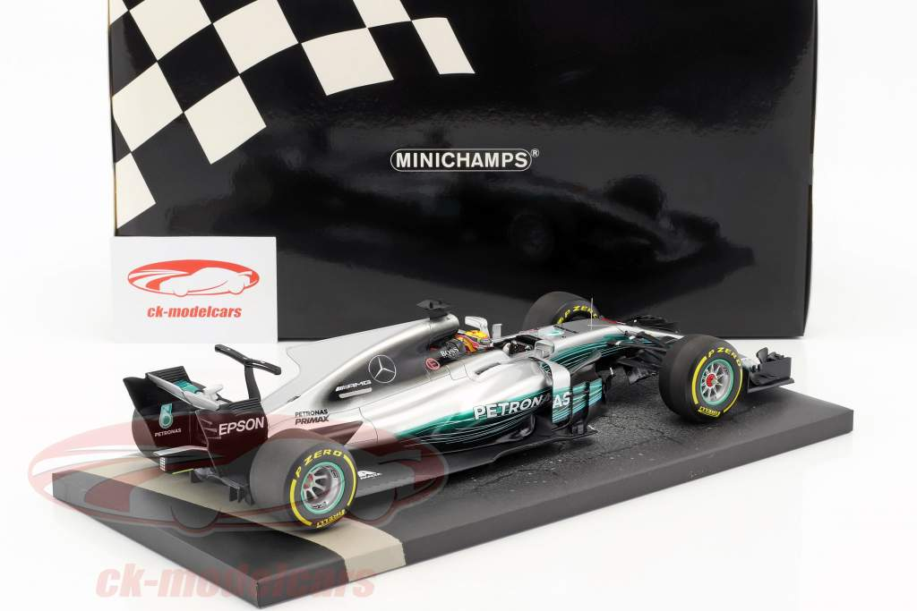 L. Hamilton Mercedes F1 W08 EQ Power  #44 gagnant Chinese GP champion du monde Formel 1 2017 1:18 Minichamps
