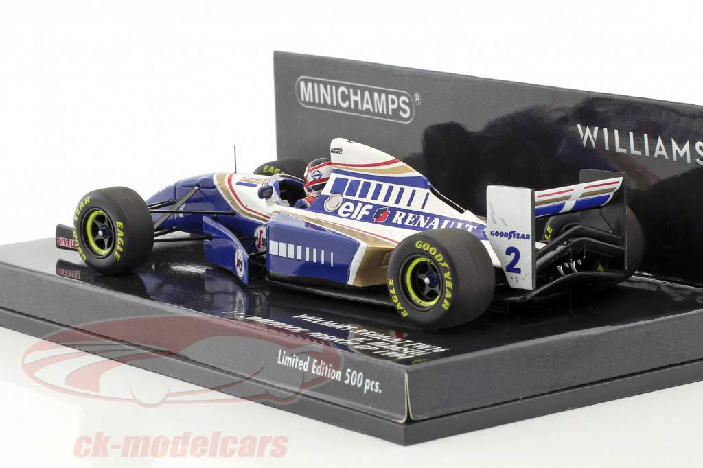 Nigel Mansell Williams FW16 #2 Comeback francese GP formula 1 1994 1:43 Minichamps