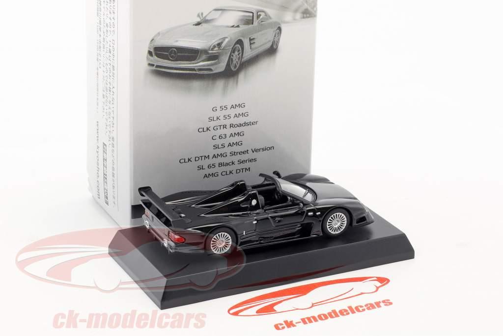 Mercedes-Benz CLK GTR Roadster schwarz 1:64 Kyosho