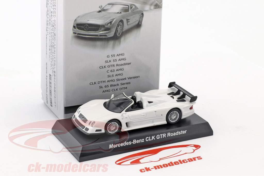 Mercedes-Benz CLK GTR roadster blanc 1:64 Kyosho