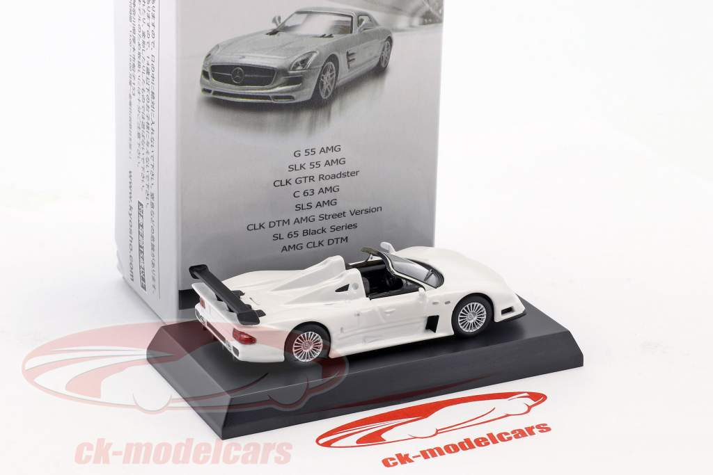 Mercedes-Benz CLK GTR Roadster white 1:64 Kyosho