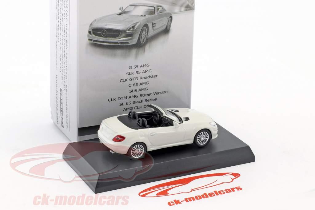 Mercedes-Benz SLK 55 AMG cabriolet blanc 1:64 Kyosho