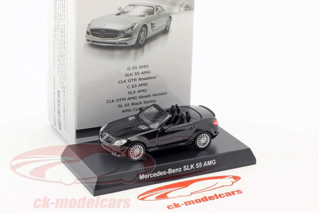 Mercedes-Benz SLK 55 AMG cabriolet noir 1:64 Kyosho