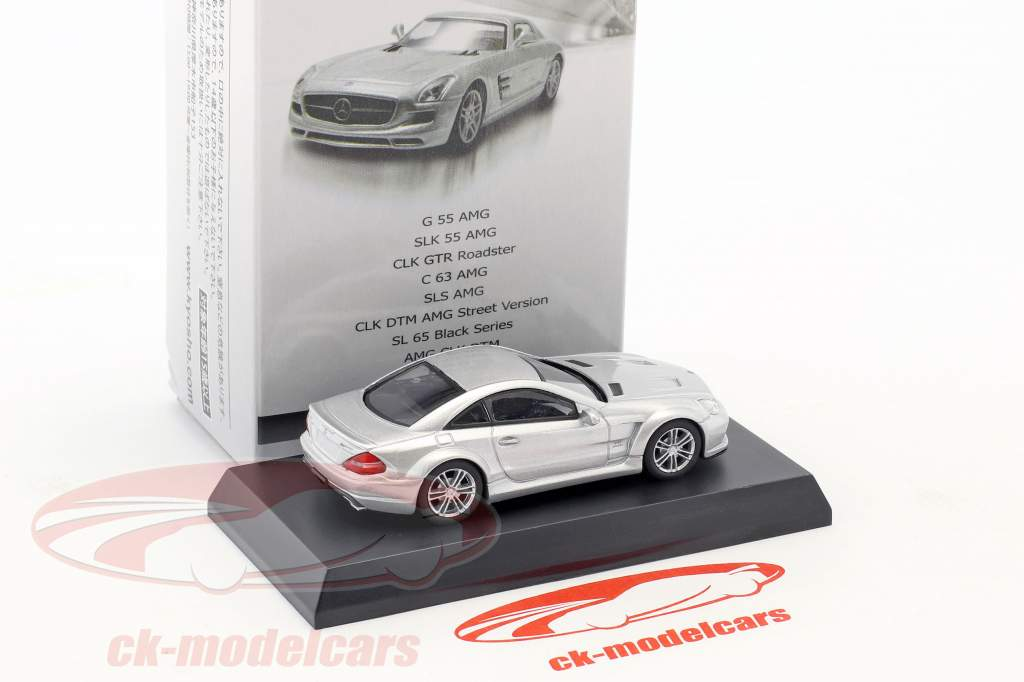Mercedes-Benz SL 65 Black Series silver metallic 1:64 Kyosho