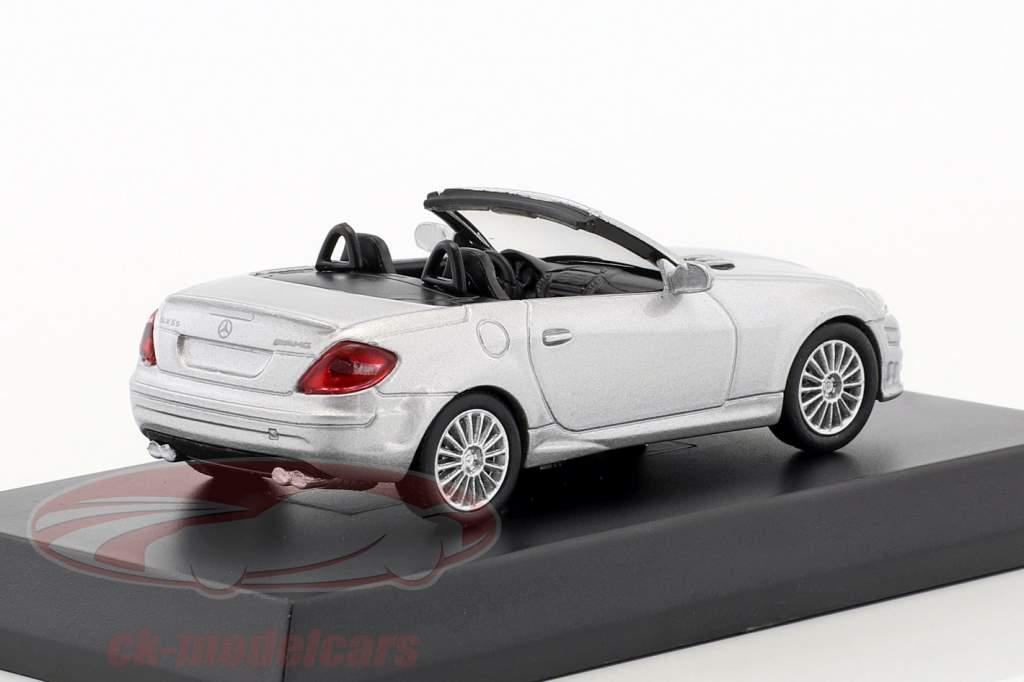 Mercedes-Benz SLK 55 AMG cabriolet argent métallique 1:64 Kyosho