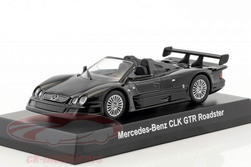 Mercedes-Benz CLK GTR roadster noir 1:64 Kyosho
