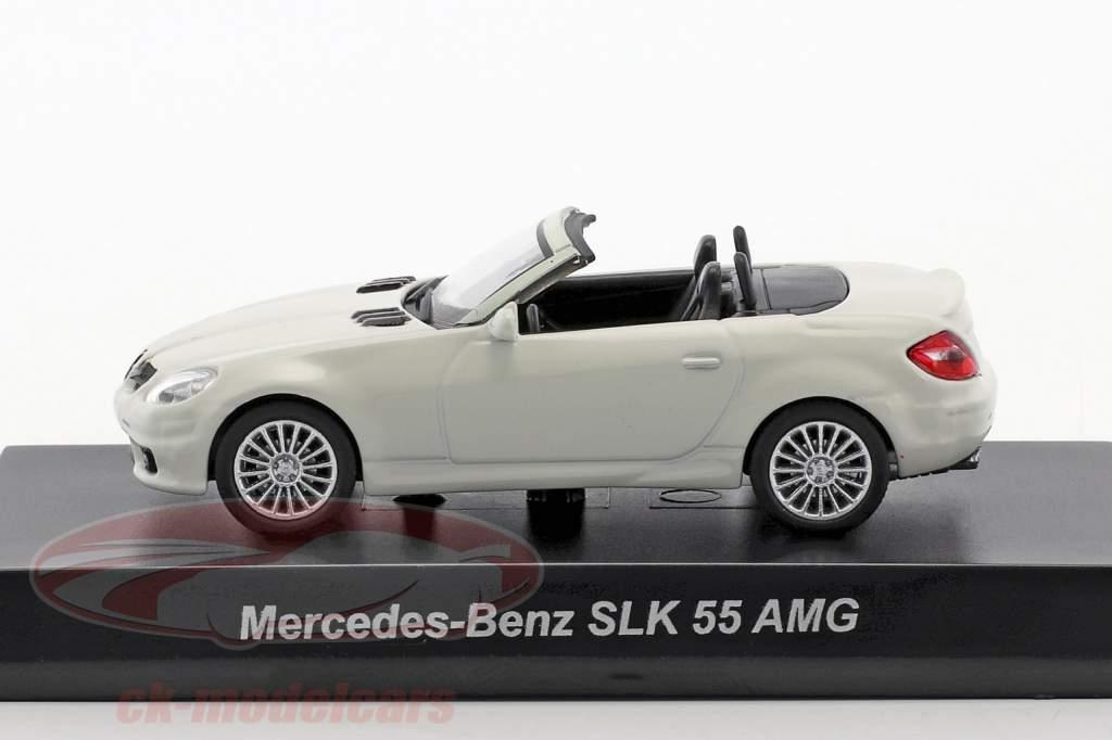 Mercedes-Benz SLK 55 AMG cabriolet bianco 1:64 Kyosho