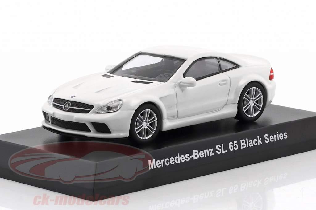 Mercedes-Benz SL 65 Black Series bianco 1:64 Kyosho