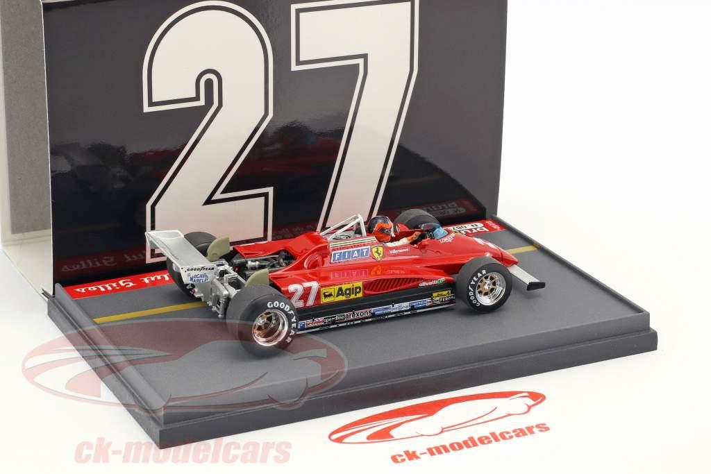 Gilles Villeneuve Ferrari 126C2 #27 Belgian GP Last Tour Formula 1 1982 1:43 Brumm
