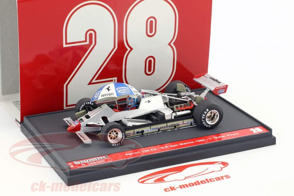 Didier Pironi Ferrari 126C2 #28 gagnant San Marino GP formule 1 1982 1:43 Brumm