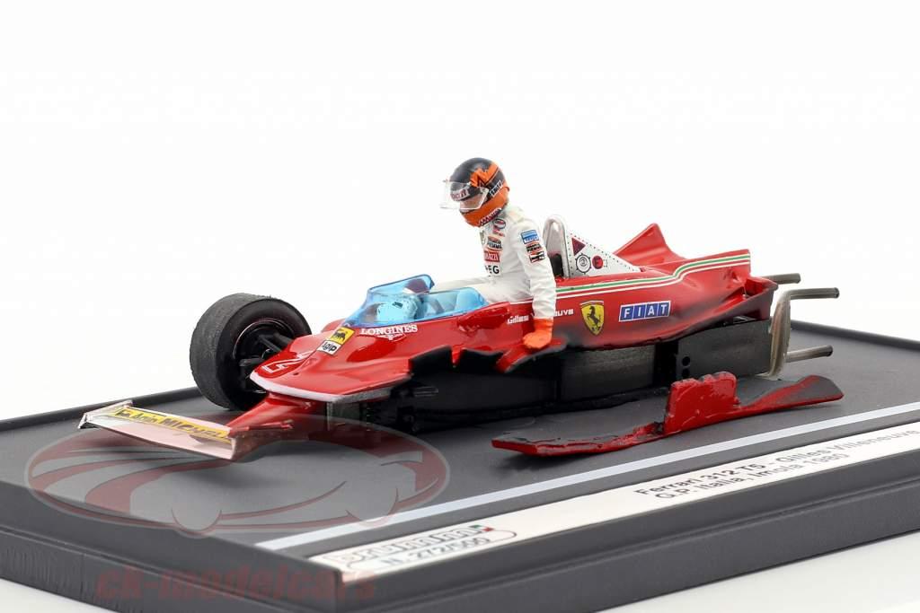 Gilles Villeneuve Ferrari 312T5 #2 accident italian GP formula 1 1980 1:43 Brumm