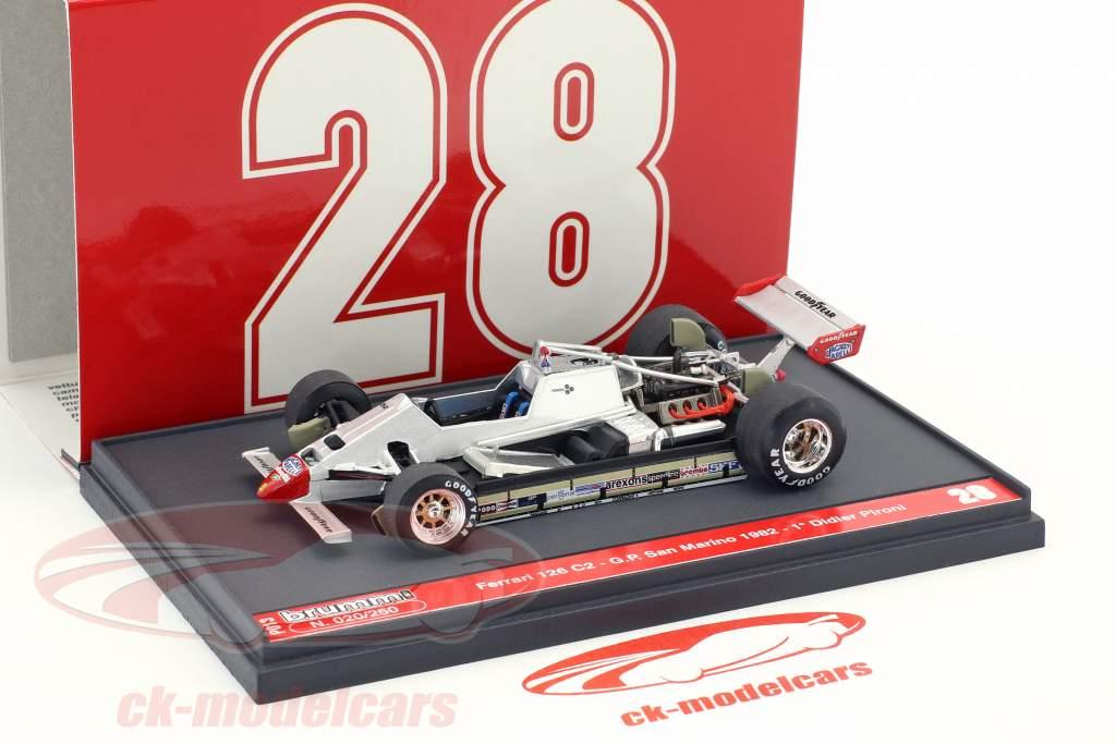 Didier Pironi Ferrari 126C2 #28 Winner San Marino GP formula 1 1982 1:43 Brumm