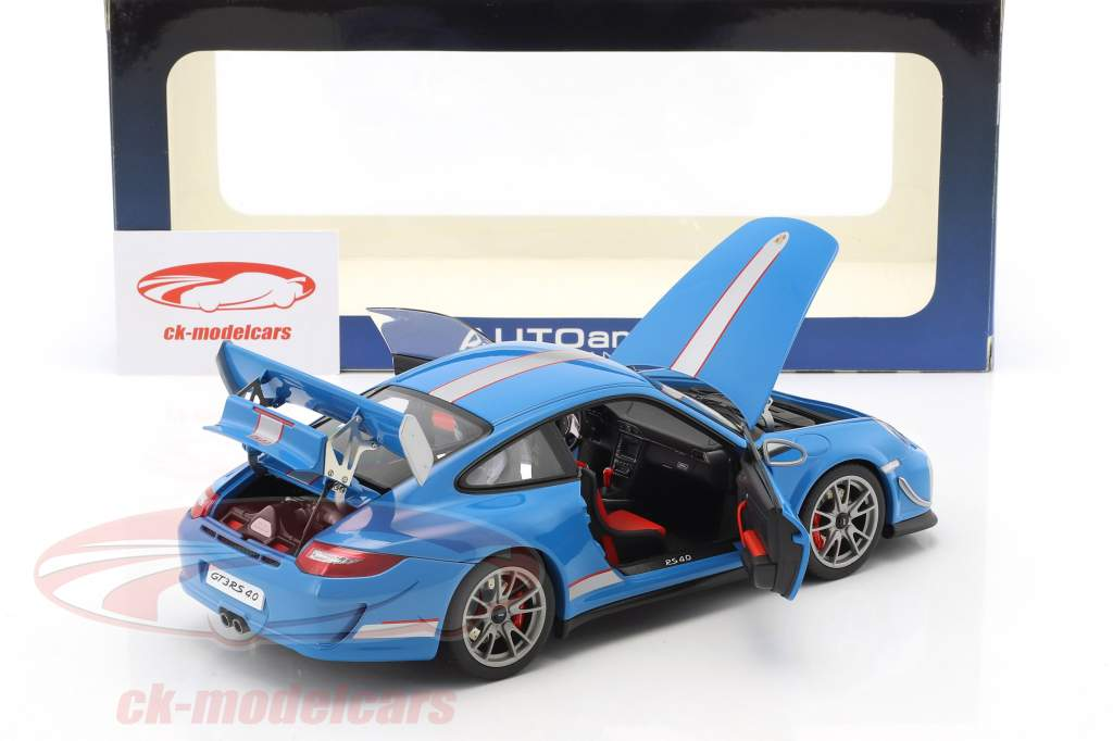 Porsche 911 (997) GT3 RS 4.0 Year 2011 blue 1:18 AUTOart