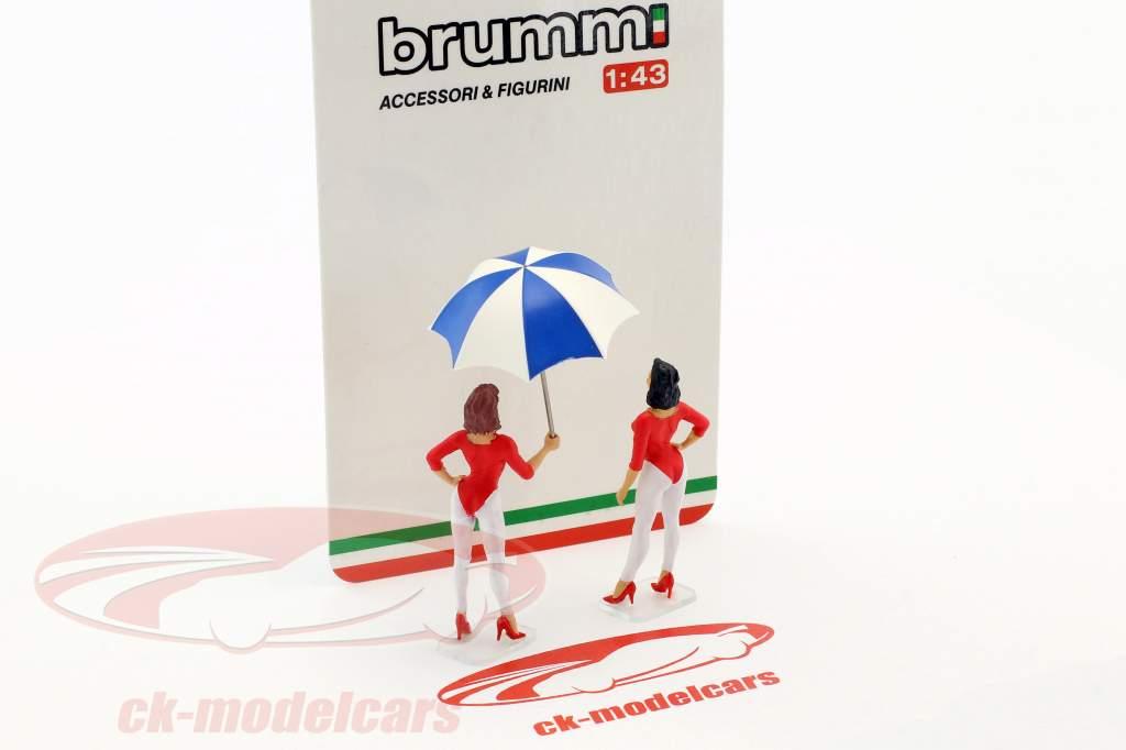 Set Giacobazzi Girls Lambrusco Team mit Schirm 1:43 Brumm